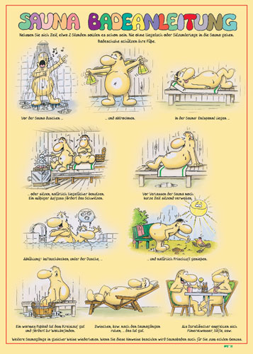 Lustig saunaregeln saunaregeln zum